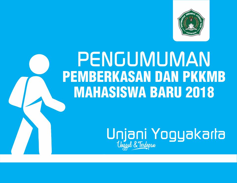 Pengumuman Pemberkasan Dokumen dan PKKMB Mahasiswa Baru Unjani Yogyakarta
