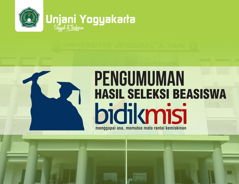 Pengumuman Hasil Seleksi Bidikmisi Unjani Yogyakarta Tahun 2018