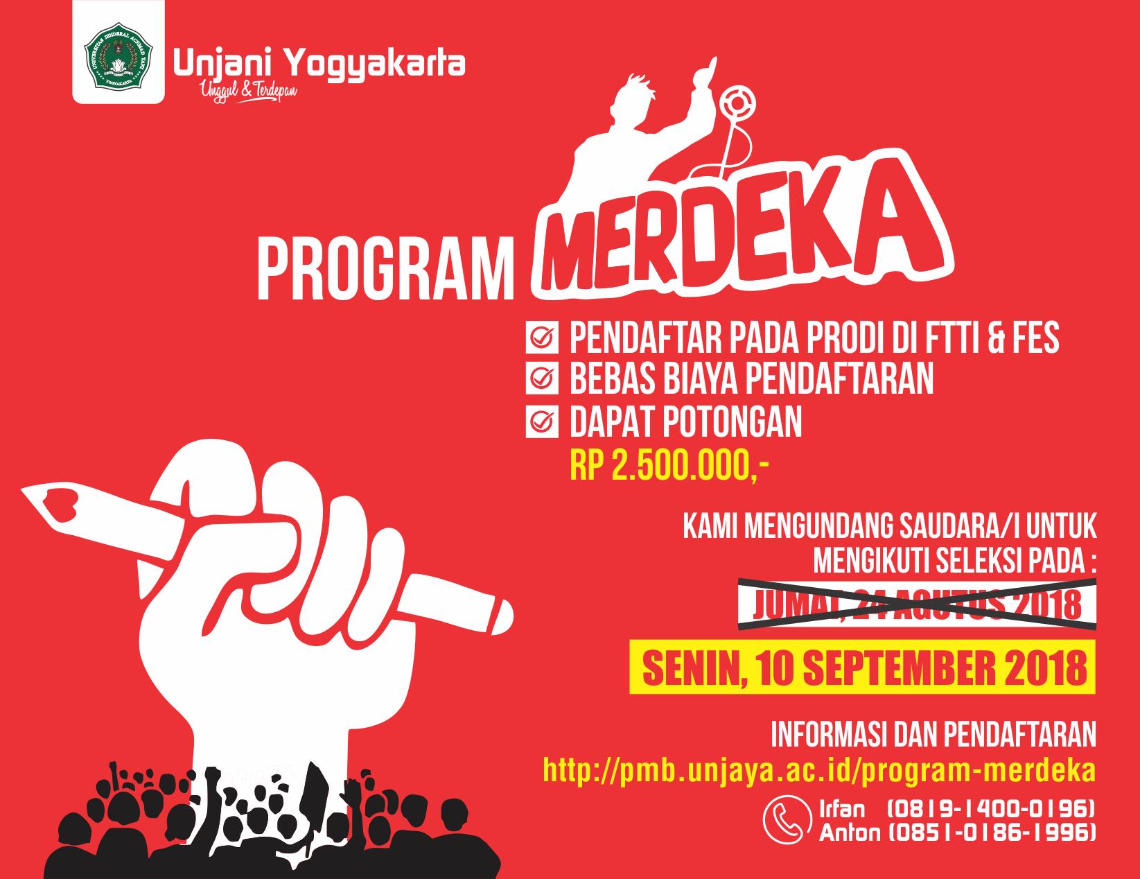Program Merdeka Unjani Yogyakarta