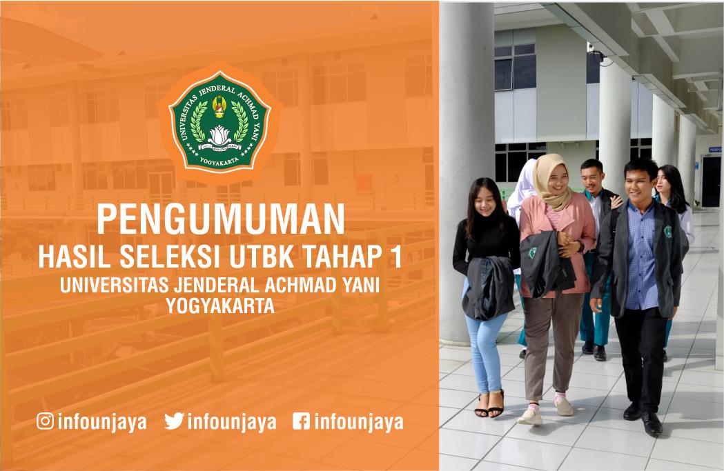 Pengumuman Hasil Seleksi UTBK Tahap 1 Unjani Yogyakarta