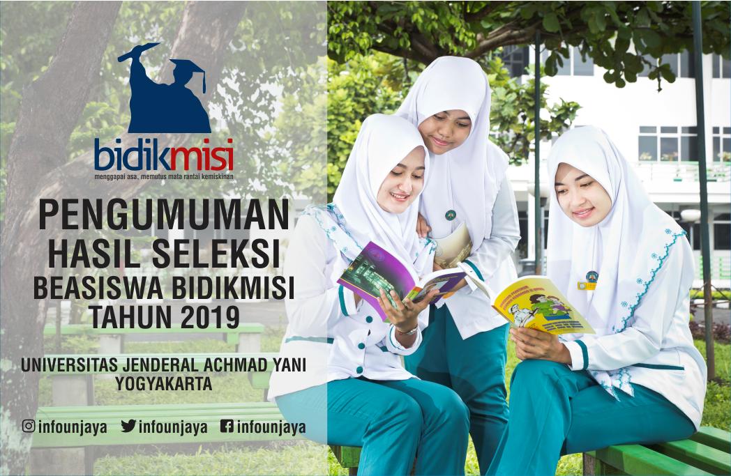 Pengumuman Hasil Seleksi Beasiswa Bidikmisi Unjani Yogyakarta