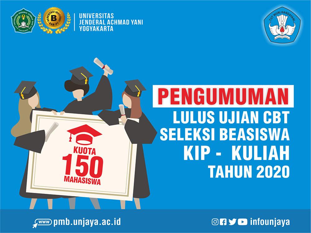 Pengumuman Lulus Ujian CBT Seleksi KIP Kuliah Unjani Yogyakarta