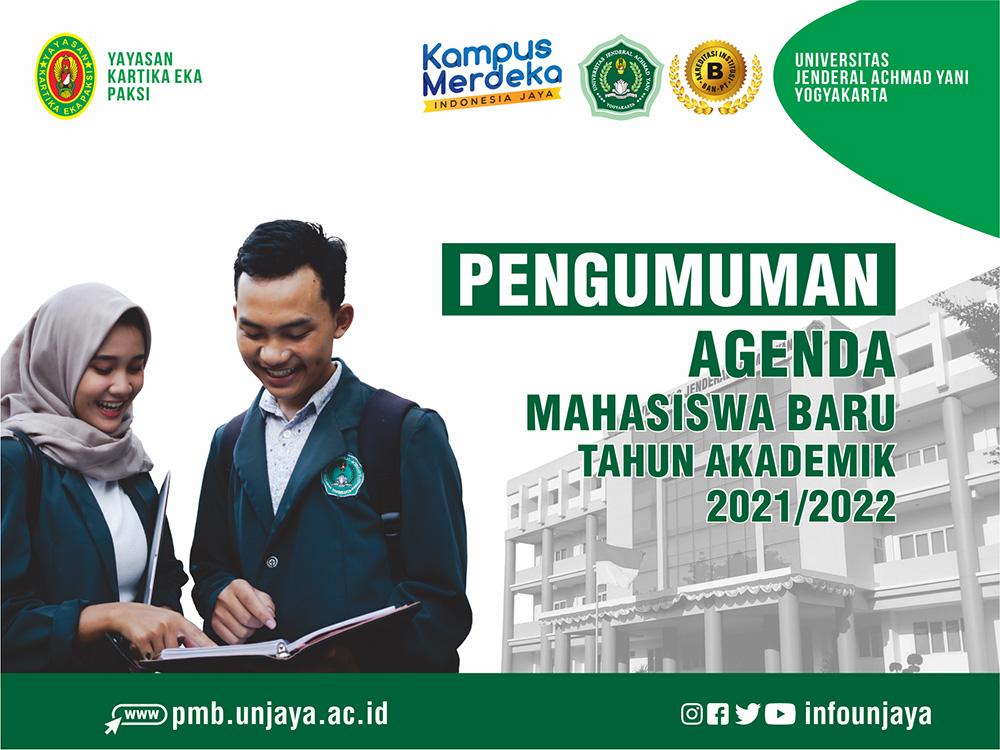 Agenda Mahasiswa Baru UNJAYA Tahun Akademik 2021/2022